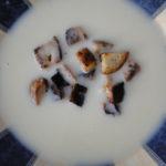 biela krémová polievka