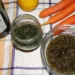 pesto z mrkvovej vňate a limetky