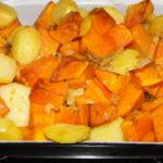 zemiaky s dyňou a bylinkami