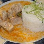 dusené bravčové mäso s ryžou