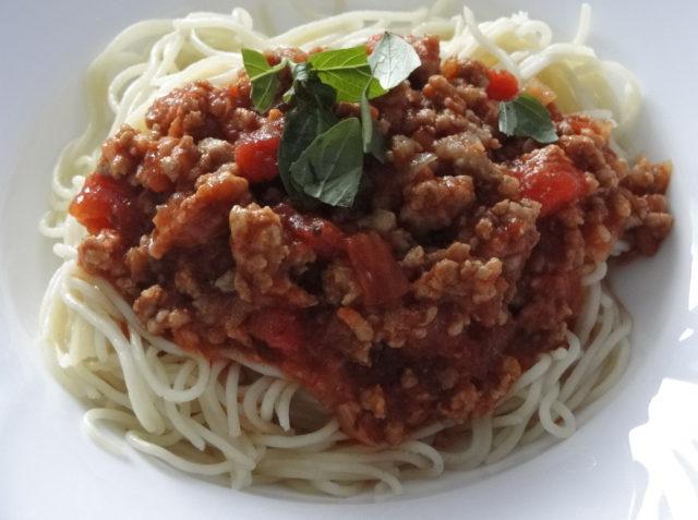 mleté mäso s rajčinami k špagetám