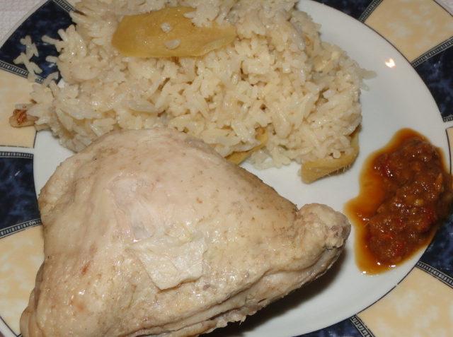 dusené kura s ryžou