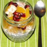 kokosový puding s chia semienkami