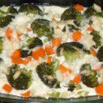 zapečená brokolica