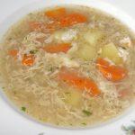 polievka z vajec a zeleniny