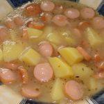 zemiaková polievka s párkami