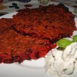 placky z červenej repy a mrkvy