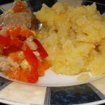 bravčové mäso na zelenine