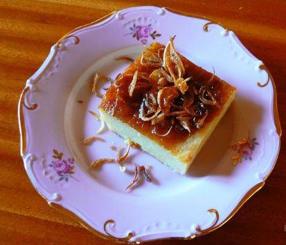 slaný polentový koláč
