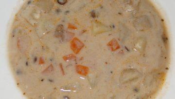 zeleninová polievka so strukovinou