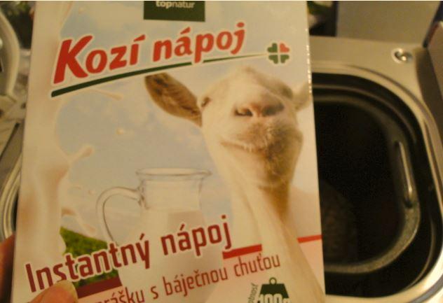 sušený kozí nápoj
