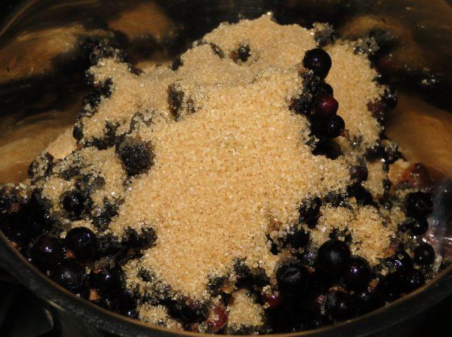 dezert z čiernych ríbezlí