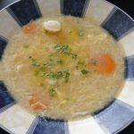 vajíčková polievka so zeleninou