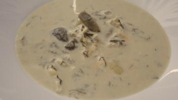 kôprová polievka s hubami