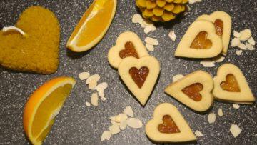 pomarančové srdiečka s mandľami