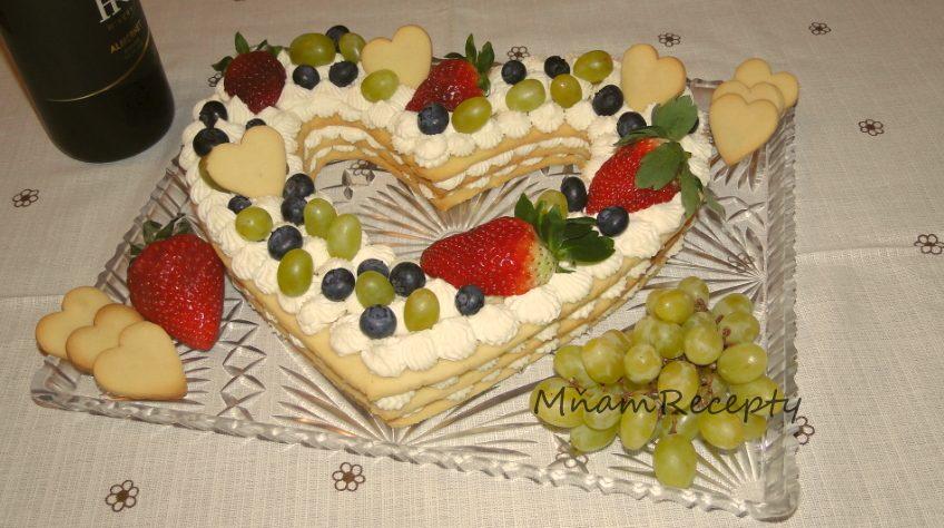 torta k valentínu