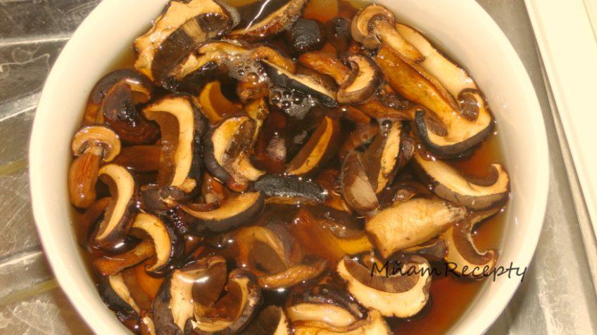 recepty zo sušených hub