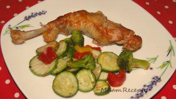dusená zelenina s kurčaťom