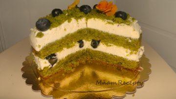 sladká špenátová torta