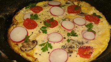 omeleta s mozzarellou